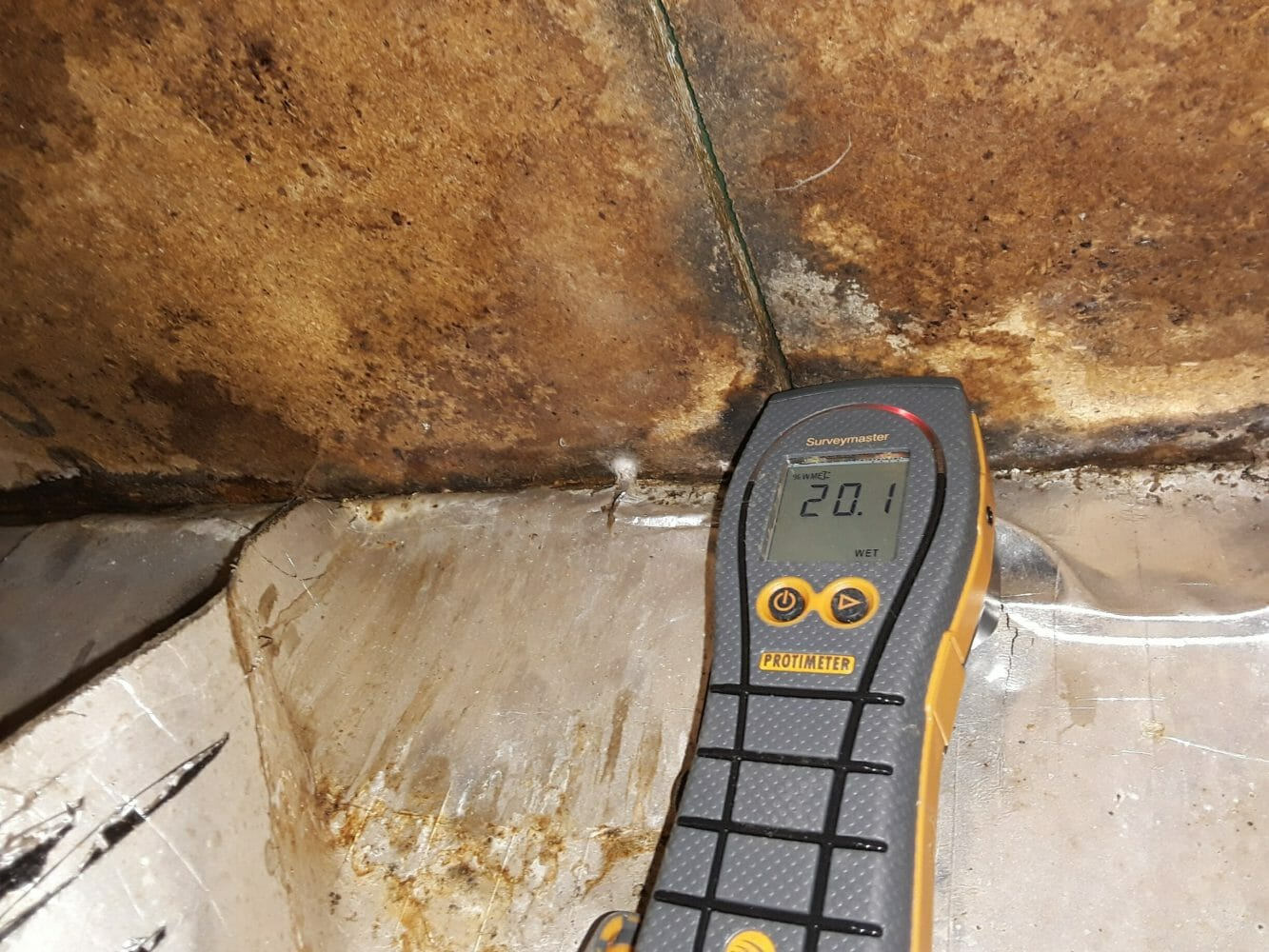 """Sub Floor - Higher than normal moisture readings were indicated. There is moisture damage to the flooring and further investigation is required by a Licensed Building Practitioner."""